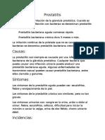 prostatitis patologias