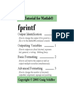 A tutorial for Matlab