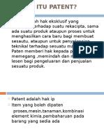 Apakah Itu Patent