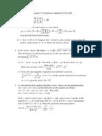 Mathematics 317 Solutions to Midterm