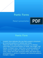 Poetic Forms forms