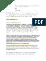 Presentacion de Sumillas de Las Asignaturas de La Malla Curricular de La Maestria de Gerencia de La Construccion