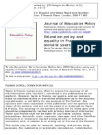 Education Policy France Socialist Years