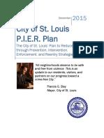 City of St. Louis P.I.E.R. Crime Prevention Plan 2015 - FINAL
