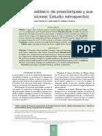 Manejo Anestesico de Preeclampsia y Sus Complicaciones-Estudio Retrospectivo
