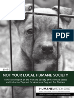 HSUS - Not Your Local Shelter 2015