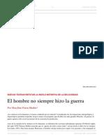 Marylène Patou-Mathis. El Hombre No Siempre Hizo La Guerra. El Dipló. Edición Nro 193. Julio 2015