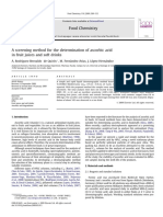 A screening method for the determination of ascorbic acid in fruit juices and soft drinks