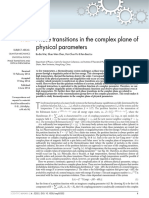Phase Transitions in the Complex Plane of Physical Parameters