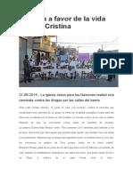 Jornada a Favor de La Vida en Villa Cristina