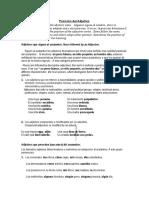 Nivel 4 Gramatica Lección#1A .   El Adjetivo (posición)