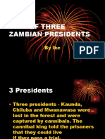 Tale of Three Zambian Presidents