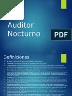 Auditor Nocturno Funciones Sesion