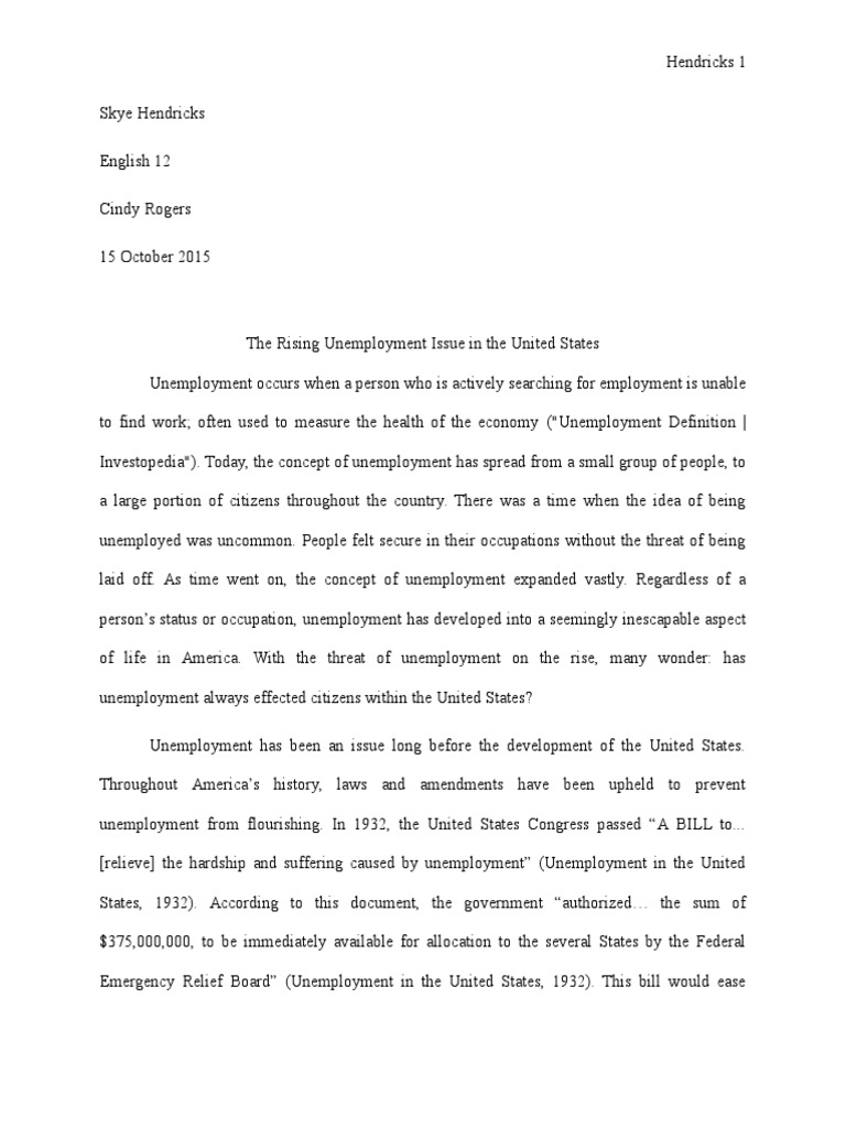 Stating a thesis in a paper