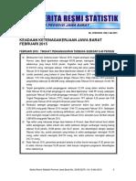 Statistik Ketenagakerjaan Jabar Feb 2015