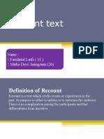 Recount Text Fix