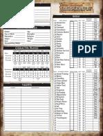 Warhammer Fantasy Roleplay 2nd Ed. - Editable Character Sheet