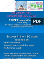 HSC Enrichment Day 2012