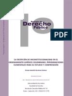 Excepción de inconstitucionalidad en el ordenamiento jurídico colombiano. Aproximaciones elementales para su estudio y comprensión.