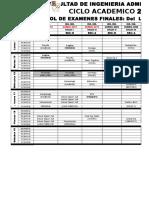 Rol de Examenes Finales 2015-3