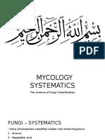 Mycology Systematics - Fungi Classification