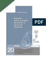 Estudios Sobre La Prueba Pericial en El Juicio Oral Mexicano