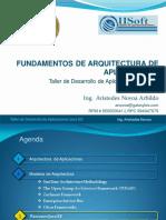 Presentacion Sesion 01 Tema Fundamentos de Arquitectura de Aplicaciones v1