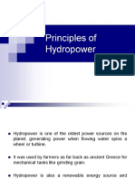 Principles of Hydropower
