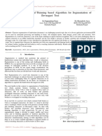 Zone Segmentation and Thinning Based Algorithm for Segmentation of Devnagari Text