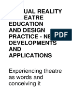 Virtualfasdfa Reality in Theatre Education