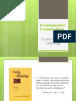 developmental considerations 1