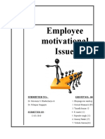 Motivation of organization behaviour