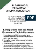 Teori Virgina Henderson
