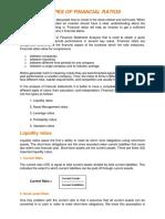 Types Financial Ratios