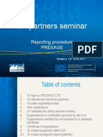 IPA Presage Reporting Procedure