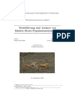 Modellierung und Analyse von Räuber Beute Populationsdynamiken (Modeling and analysis of predator prey population dynamics)