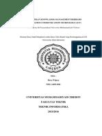 MENERAPKAN KNOWLADGE MANAGEMENT BERBASIS INFORMATION COMMUNICATION TECHNOLOGY (ICT) ( Studi Kasus Di Perpustakaan Universitas Muhammadiyah Cirebon)