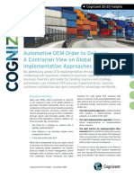 Automotive OEM Order to Delivery