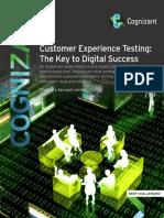Customer Experience Testing