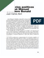 Los Ciclos Poeticos de Jose Manuel Caballero Bonald