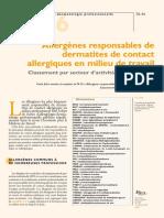 Alergenos e Dermatites France Ta86