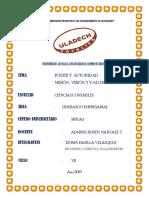 Resumen Organizadores Graficos de Misión Visión Autoridad y Poder