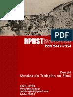 Revista Piauiense de História Social e do Trabalho. Ano I, n. 01