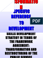 Transformation - A specific reference to Development