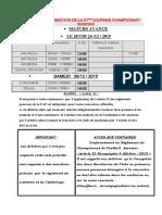 Programmation de La 07emejournee Championnat Seniors
