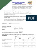 Satisfaction Survey Questionnaire