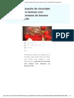 Ganache de Chocolate Sem Lactose Com Biomassa de Banana Verde - Lactose Não Por Flavia Machioni