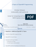 CT Advanced OpenMP