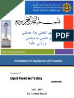 Liquid Penetrant Testing Lecture