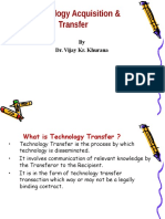 Technology Transfer Acquisition